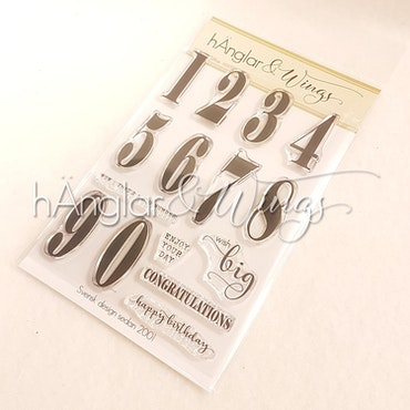 Clear Stamps - Stora Siffror