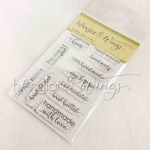 Clear Stamps - Handmade English A7