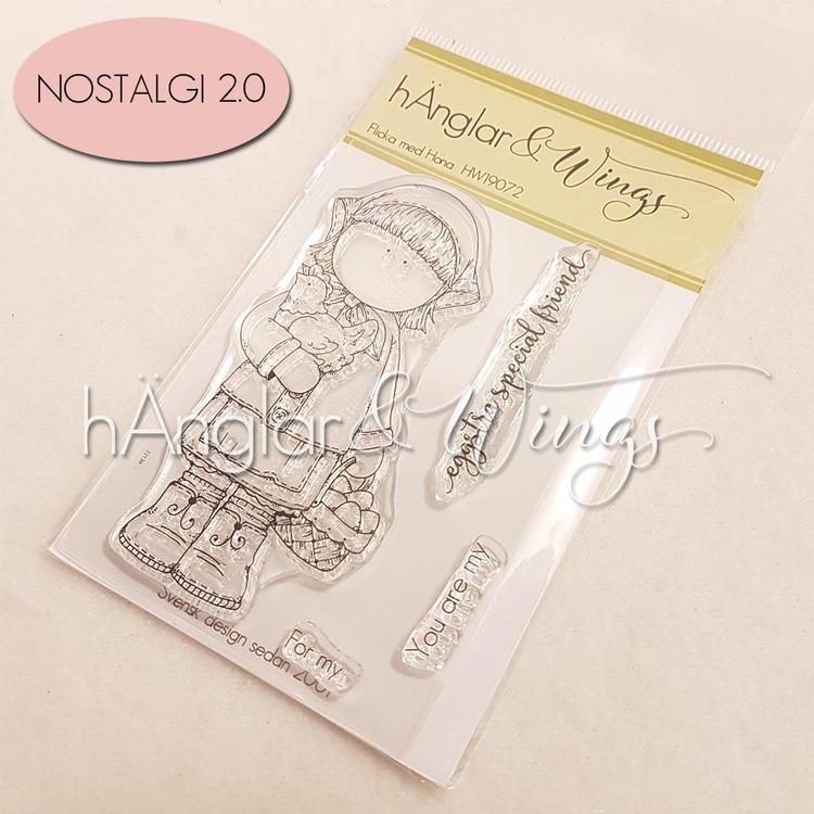 Clear Stamps - Flicka med Höna A7