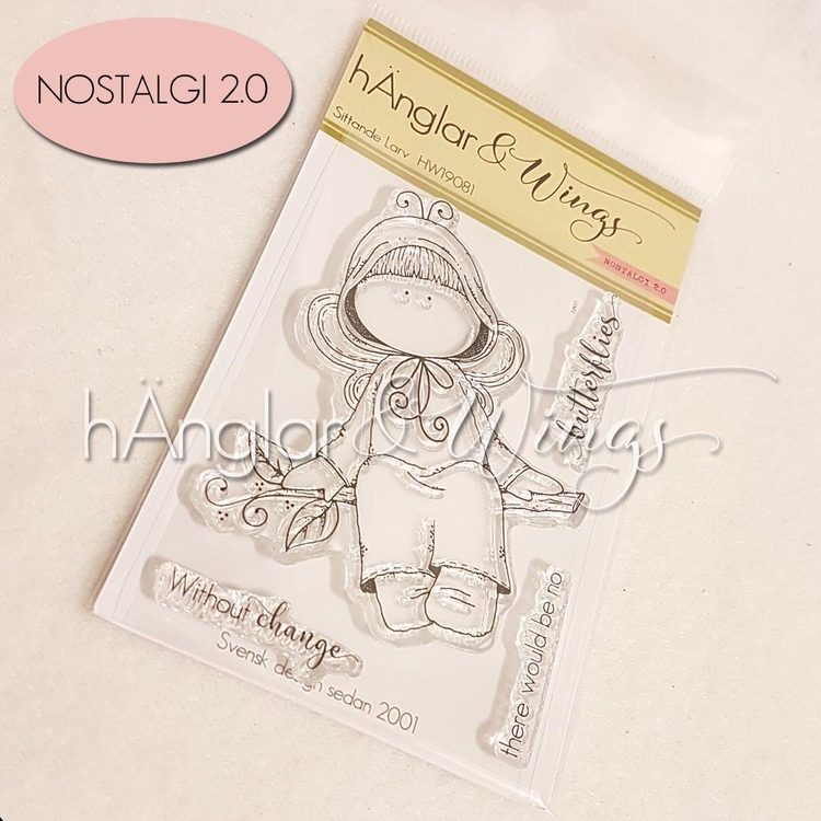 Clear Stamps - Sittande Larv A7