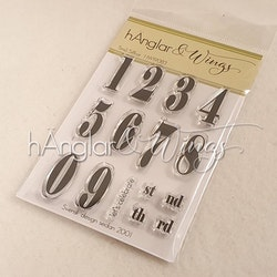 Clear Stamps - Små Siffror / Small numbers - A7