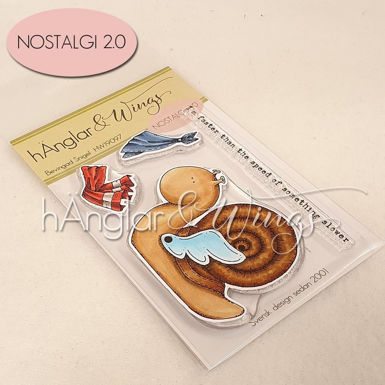 Clear Stamps - Bevingad Snigel /Snail with wing - A7