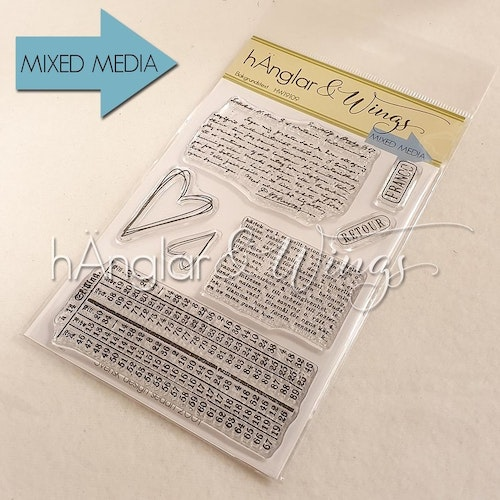 Clear Stamps - Bakgrundstext / Background texts