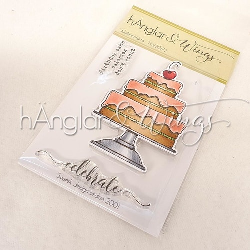 Clear Stamps - Jubileumstårta / Jubilee cake - A7
