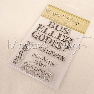 Clear Stamps - Stora Texter Halloween  A7