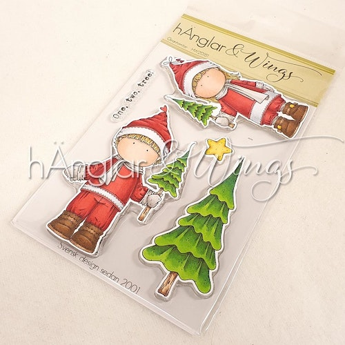 Clear Stamps - Grantomtar / Santas with tree