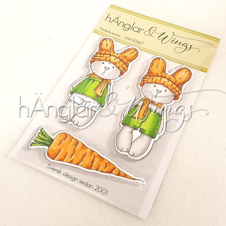 Clear Stamps - Vinterkaniner / Winter bunnies - A7