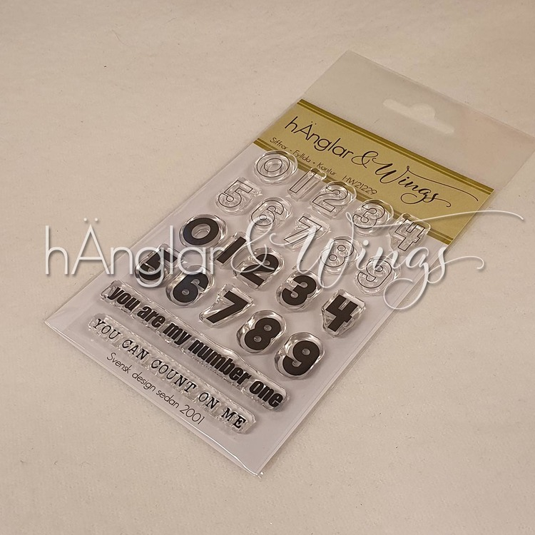 Clear Stamps - Siffror Fyllda + Kontur / Numbers Filled + Contour  A7