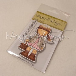 Clear Stamps - Korgflicka / Girl with basket A7