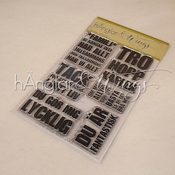 Clear Stamps - Blocktext