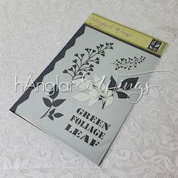 Stencil - Blad / Leaf