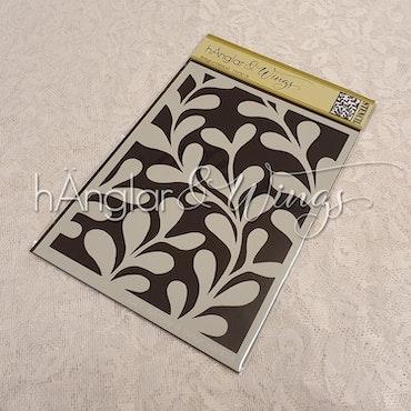 Stencil - Bakgrundsblad / Background Leaves