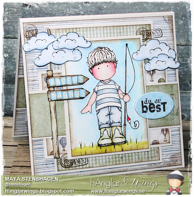 Clear Stamps - Fiskelycka / Fishing Happiness