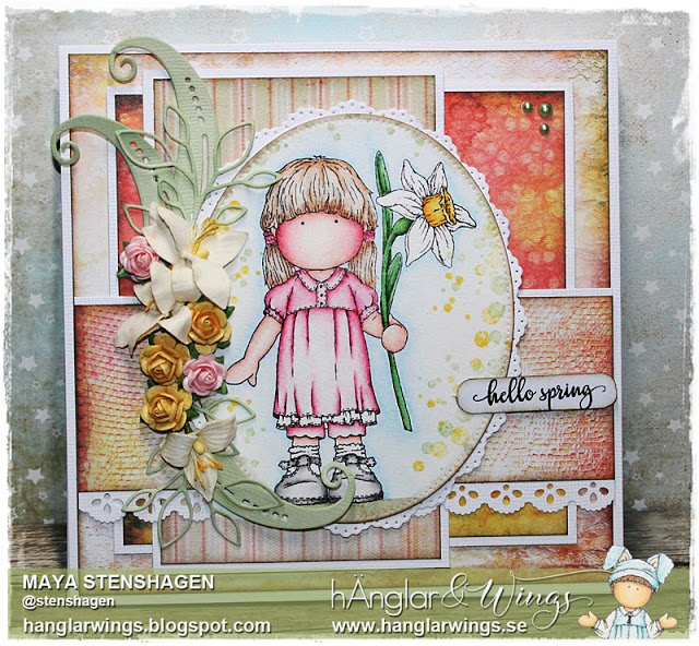 Clear Stamps - Pingstliljeflicka  A7