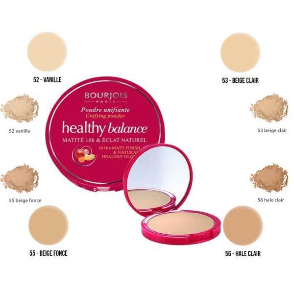 Bourjois Healthy Balance Matte 10H Powder  - 52 Vanilla