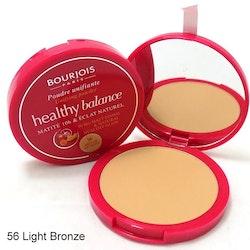 Bourjois Healthy Balance 10H Matte Powder - 56 Hale Clair(Light Bronze)