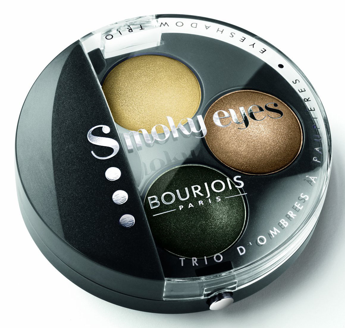 Bourjois Intense Smoky Trio-1 Eyeliner & 2 Eyeshadows Palette-02 Or Baroque