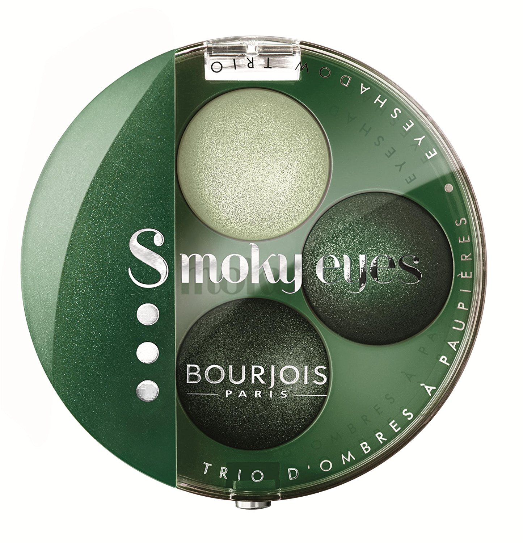 Bourjois Intense Smoky Trio-1 Eyeliner & 2 Eyeshadows Palette-08 Vert Trendy