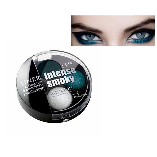 Bourjois Intense Smoky Trio-1 Eyeliner & 2 Eyeshadows Palette-Pagon élégant