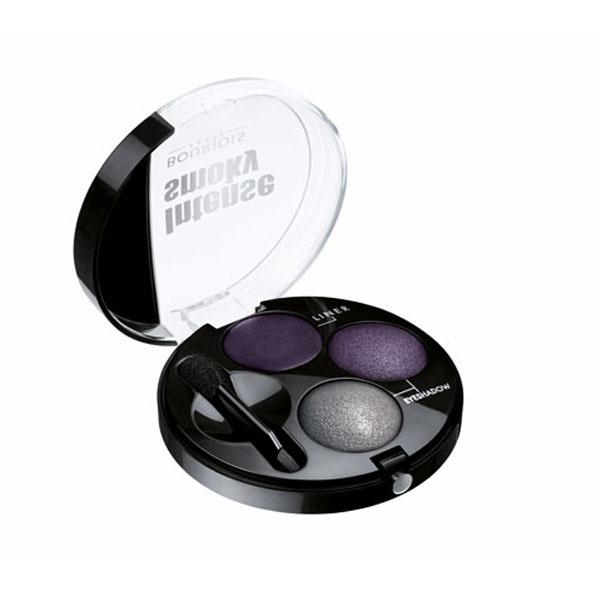 Bourjois Intense Smoky Trio-1 Eyeliner & 2 Eyeshadows Palette-62 Violet Constelle