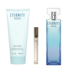 Calvin Klein Eternity AQUA Femme EDP 100ml 3 Pieces Gift Set