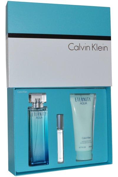 Calvin Klein Eternity AQUA Femme EDP 100ml 3 Pieces Gift Set