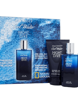 Davidoff Night Dive EDT 75ml + 70g Deostick + SG 150ml-Gift Set