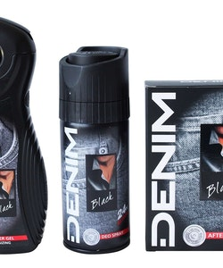 Denim Black After Shave 100ml+Shower Gel 250ml+Body Spray 150ml
