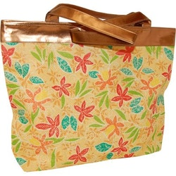 Elizabeth Arden Flowery Straw Tote Bag