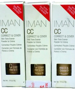 IMAN CC Correct & Cover Skin Tone Evener Powder to Creme - Clay Medium Deep