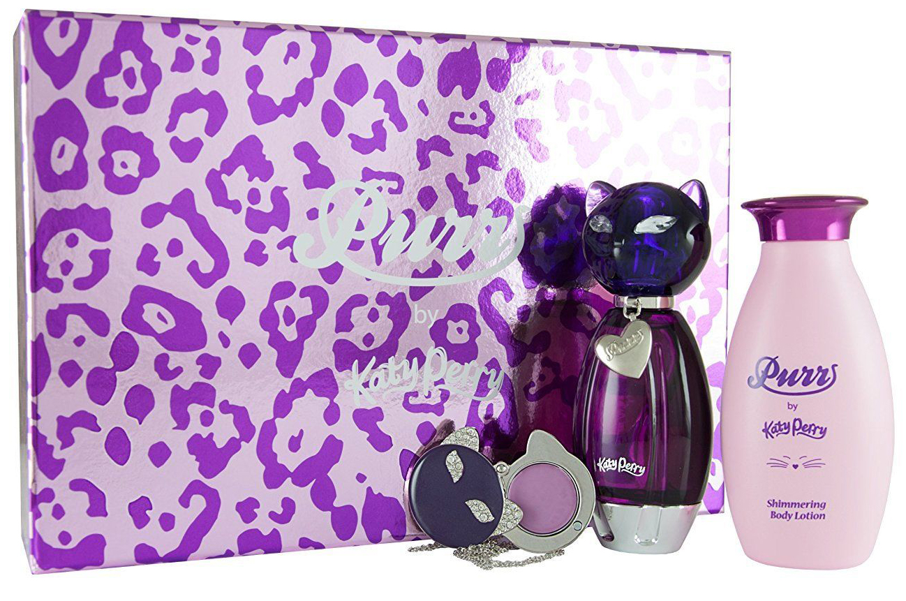 Katy Perry PURR Gift Set - 50ml EDP + 120ml BL + Solid perfume