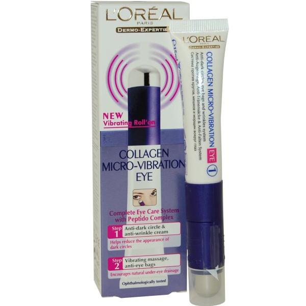 L'Oreal Collagen Micro-Vibration Eye 15ml Vibrating RollṀon