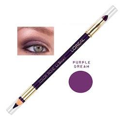 L'Oreal Color Riche Le Smoky Pencil Eye Liner & Smudger - Purple Dream
