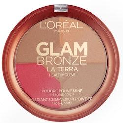 L'Oreal Glam Bronze La Terra Healthy Glow Powder - 02 Medium SPERANZA