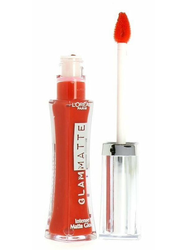 L'Oreal Glam Matte Intense Matte Lip Gloss - Skinny Tangerine