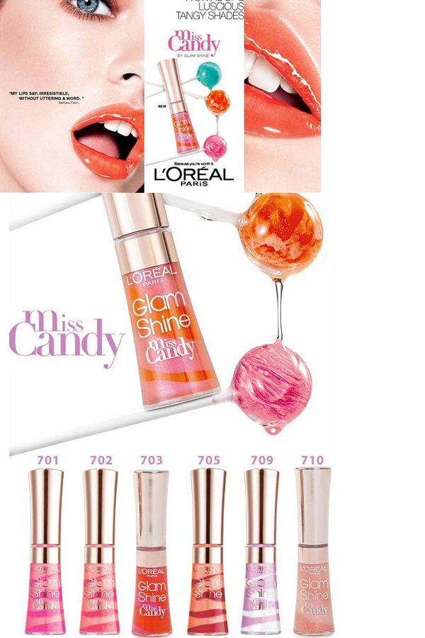 L Oréal Glam Shine Miss Candy Lip Gloss Reflexion - 702 Candy Pink