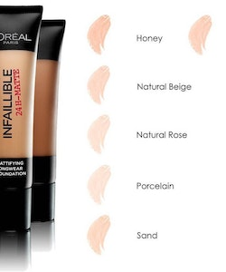 L'Oreal Infallible 24H-Matte Mattifying Foundatio - Natural Rose