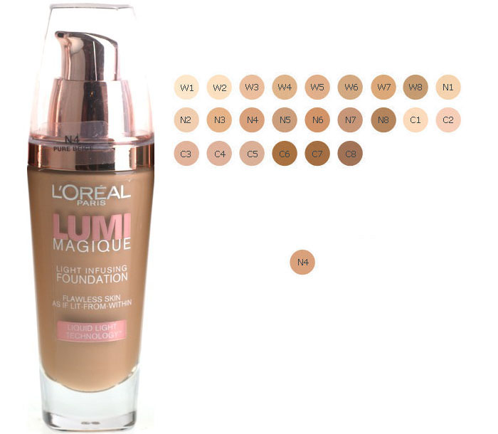 L'Oreal Lumi Magique Light Infusing Foundation - N4 Pure Beige