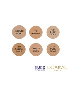 L'Oreal Magic Nude Eau De Teint Fresh Foundation SPF18 - 190 Rose Beige