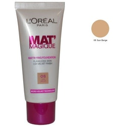L'Oreal Mat' Magique Mattifying Foundation  - Sun Beige