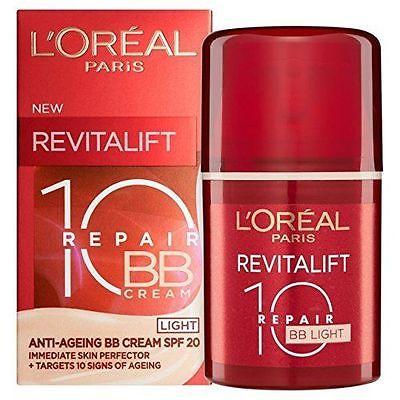 L'Oreal Revitalift Total Repair 10 SPF 20 BB Cream- Light