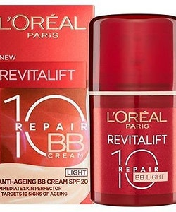 L'Oreal Revitalift Total Repair 10 SPF 20 BB Cream- Light
