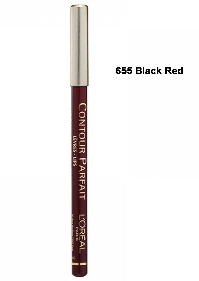 L'OrealContourParfaitLong Lasting LipLinerPenci l- 665 Black Red