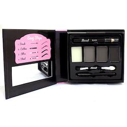 Laval Eyebrow Palette 9 PCS-Pencil+Brush+Wax+3Powders - Dark Toned