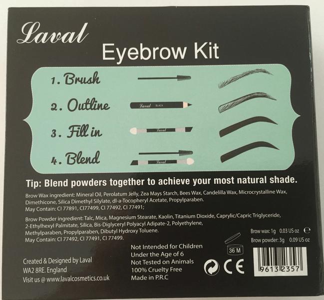 Laval Eyebrow Palette 9PCS-Pencil+Brush+Wax+3Powders - Medium Toned