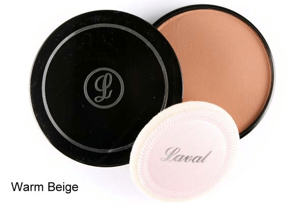 Laval Pressed Creme Face Powder - Warm Beige