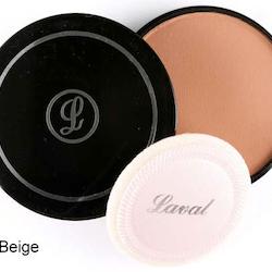 Laval Pressed Creme Face Powder - Warm Beige