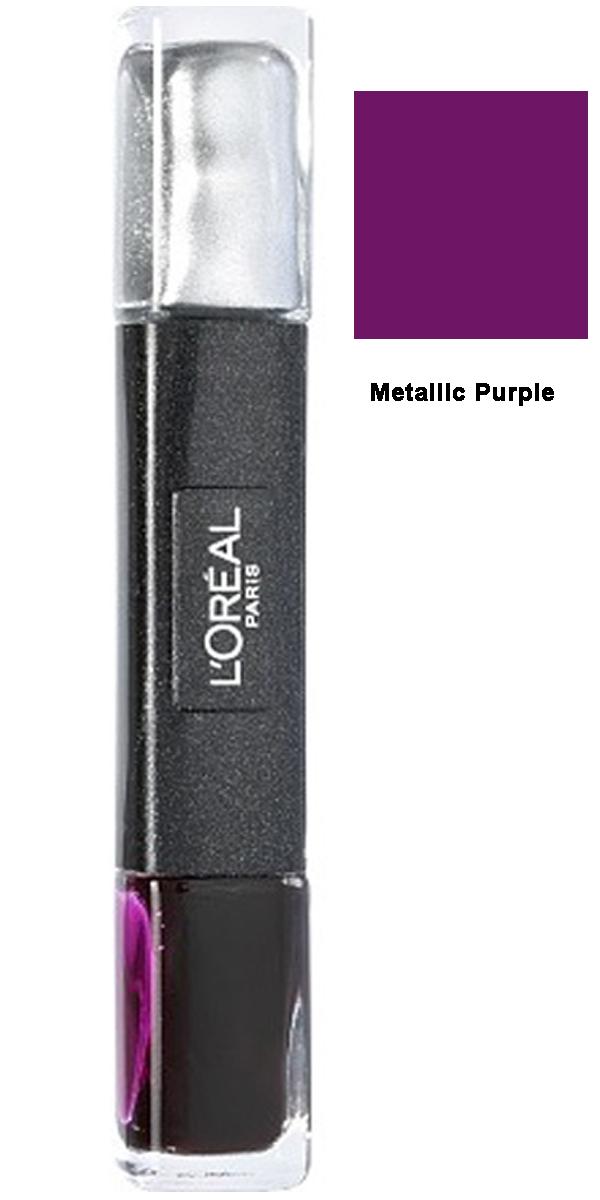 L Oreal Infallible Gel 2Step Metallix DUO Polish-29 Metallic Purple
