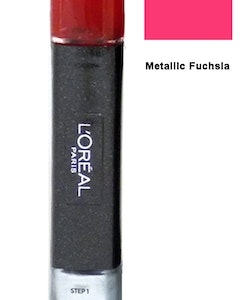 L Oreal Infallible Gel 2Step Metallix DUO Polish-Metallic Fuchsia