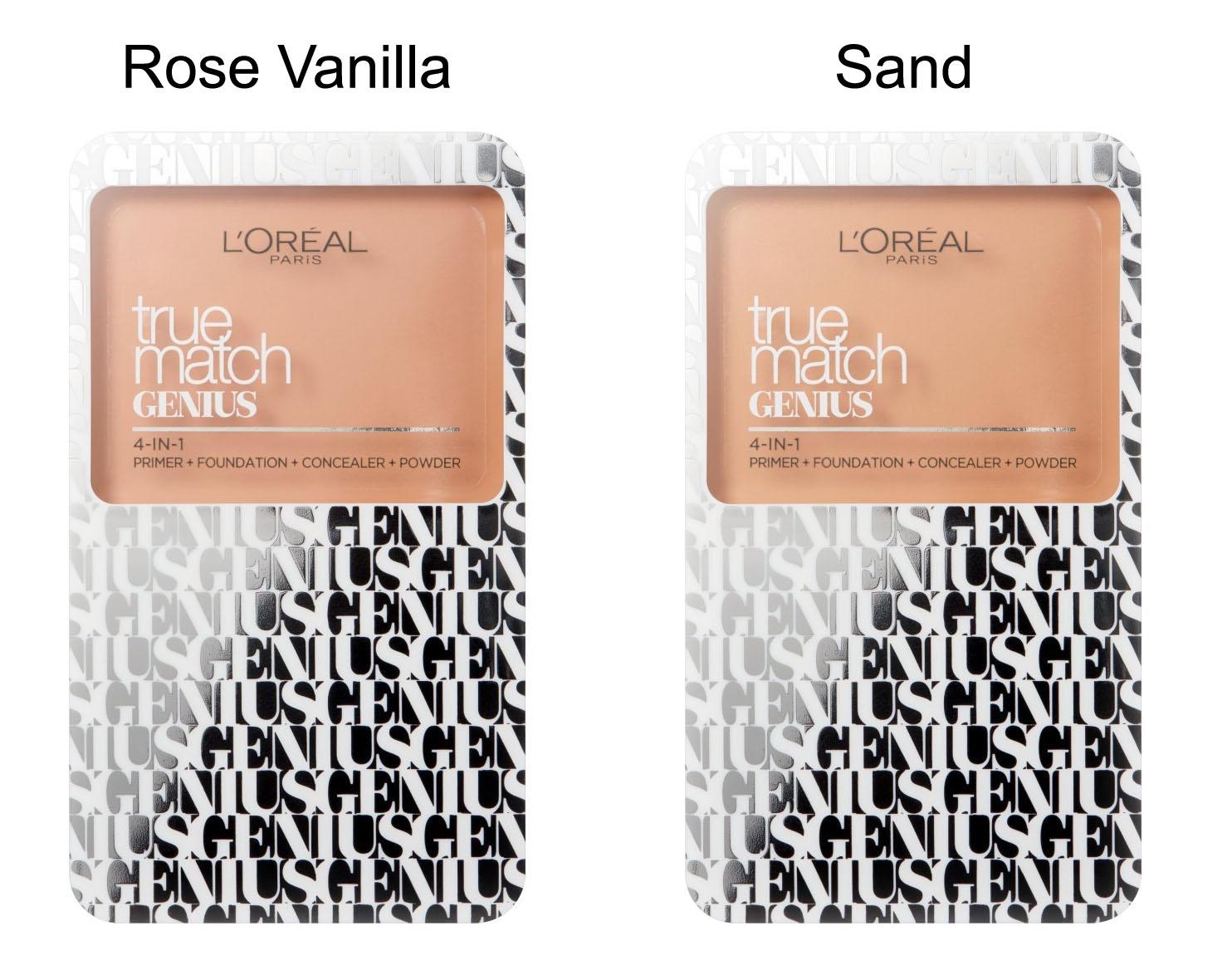 L Oreal True Match Genius 4-in-1 Cream to Powder Foundation-Rose Vanilla
